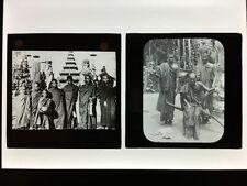Sepia 1900s Collectable Antique Photograph Slides (Pre-1940)