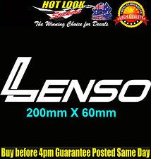 "LENSO Alloy Wheels Sticker 200mm Suit JDM Drift Drag Racing 4X4 20"" rims"
