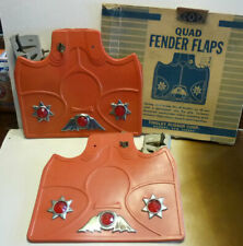 NOS vintage 1930's Tingley jeweled rubber mud fender flaps rat rod classic red