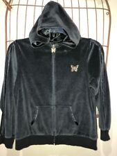 Arizona Jean Co Black Velore Like Hoodie Jr Womens L