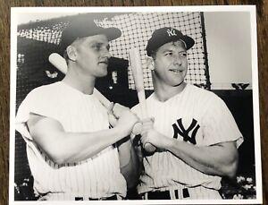 "Roger Maris & Mickey Mantle Baseball NY Yankees Photo  8 x10"" Vintage"