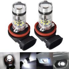 NEW 2x H8 H9 H11 H16 6000K White 100W CREE LED Headlight Bulbs Kit Fog Light DRL