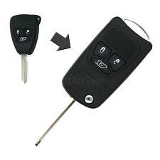 Flip Remote Key Shell refit for Chrysler Dodge Jeep Avenger Nitro 3 BTN Fob 750C