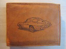 "Mankind Wallets-Men's Leather RFID Billfold w/ FREE ""1963 Chevy Corvette"" Image"