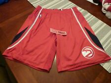 Adidas Authentic NBA Shorts Atlanta Hawks Game On Court Red XL +2 Brand New