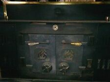 Quality Craft Antique Electric Stove Heater, Matte Black