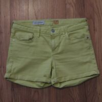 Pilcro and the Letterpress Anthropologie Shorts Yellow Womens Size 27