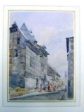FRANCE A STREET IN DINAN JOHN SKINNER PROUT ATTRIB W/COL C1850