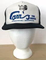 Vintage Carrs Tire Service Car Navy Blue Hipster Mesh Trucker Cap Hat Snapback