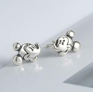 Tiny Adorable Silver Disney Mickey Mouse Stud Earring