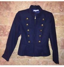 Veste Officier Etam Taille 36 Laine Melangée Bleu Marine Bouton Doré