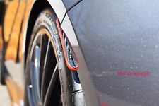 Mercedes A/CLA Red Stripe Carbon Fibre Rear Splash Guards - A45 AMG A Class W176