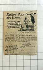 1926 Delight Your Guests This Summer, The Ice Stove Company