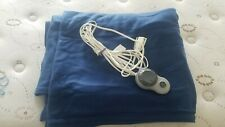 Washable Electric Heated Microfiber Blanket with controller Size FULL Color NAVY