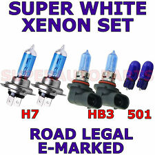 TOYOTA AVENSIS SALOON 2009+  SET OF  H7 HB3 501  XENON SUPER WHITE  LIGHT BULBS