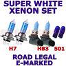 VAUXHALL ASTRA 1998-2002  SET OF  H7 HB3 501 XENON SUPER WHITE  LIGHT BULBS