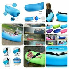 Portable Camping Lounger Sofa Inflatable Sleeping Bag Beach Hangout Lazy Air Bed