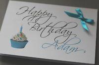 LARGE Handmade Personalised  Birthday Card / MALE Boyfriend Husband Brother Dad