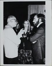 George Christy (Reporter), Barbara Bach ORIGINAL PHOTO HOLLYWOOD Candid