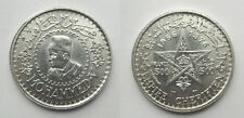 1956 Morocco 500 Francs-Mohamed V- Silver(.900) 36mm 22.5g Y#54 circulated shiny