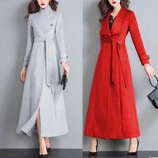 Winter Ladies Golilla Woollen Trench Coat Outwear Parka Winter Fashion Jacket Sz