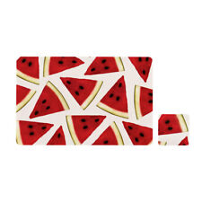 Set of 4 Dining Placemats and Coasters Water Melon Plate Pad Table Décor