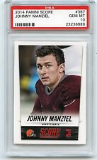 2014 SCORE #387 JOHNNY MANZIEL ROOKIE CARD RC, CLEVELAND BROWNS - PSA 10 (36886)