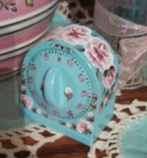 Hp roses shabby baking cooking timer roses paris pink kitchen chic cottage beach