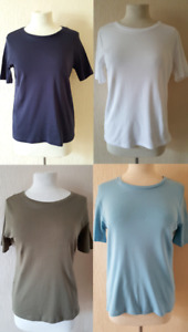 M&S Womens Classic Top T Shirt Marks and Spencer New Ladies Plus Size 8-24