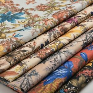 100X145cm Blumen Stoff DIY Sofa Abdeckung Tischdecke Kissen Hülle Material Dekor