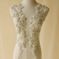 Rhinestone Appliques Bling Diamante Bridal Applique Crystal Motif for Wedding