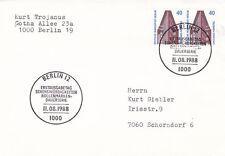 West BERLIN 1988 Chile Casa Hamburgo FDC usado en muy buena condición