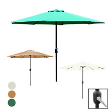 More details for garden table parasol patio 2.7m crank handle umbrella sun shade lightweight