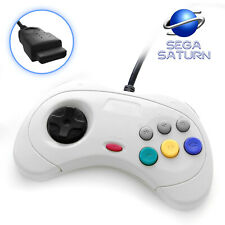 Sega Saturn Wired Controller 8 Button Arcade Pad White fits Official Console