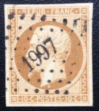 France N° 9a 10 c Bistre Brun Oblitéré Signe Calves Et TTB Cote950€