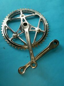 Vintage Chrome 50/47T Double Chainwheel Crankset