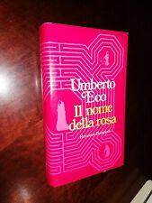 Libro Umberto eco il nome della rosa romanzo Bompiani 1982