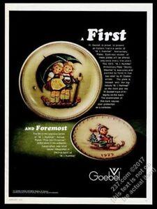 1975 Gobel Hummel anniversary plate s designs photo vintage print ad