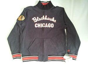NEW WITH TAGS CCM CLASSICS CHICAGO BLACKHAWKS FULL ZIPP JACKET FLEECE SIZE L