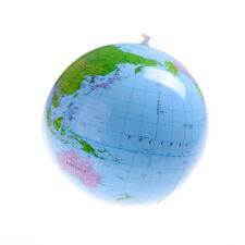 """Inflatable Blow Up World Globe 16"""" Earth Atlas Ball Map Geography Toy WL"""