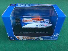 TAMOIL F1 POWER BOAT Cappellini WR 285 Km/h in BOX Metal Modellino scala 1:87
