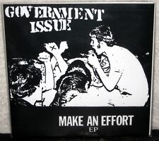 "GOVERNMENT ISSUE Make An Effort 7"" EP PUNK ROCK Hardcore MINOR THREAT Black Wax"