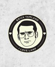 "Anchorman Sticker ""I love lamp"" Brick Tamland steve carell ron burgundy laptop"