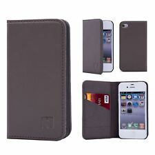 Apple iPhone 4 4s Leather Wallet Case Designed by 32nd Classic Real Leather
