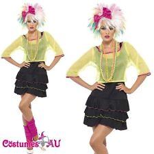 Madonna 1980s 80s Pop Star Diva Cyndi Lauper Fancy Dress Hens Party Costume