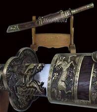 HIGH QUALITY CHINESE SWORD FOLDED STEEL BLADE KANG XI SABER ZHAN MA QING DAO