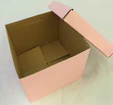 95 to 100 x Hamper Box Sets Baby Pink - 130mmx130mmx115mm
