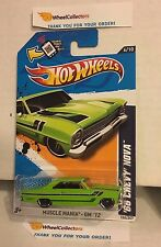 '66 Chevy Nova #106 * Green Walmart Only * 2012 Hot Wheels * Y56