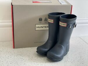 Genuine Hunter Wellies Wellington Boots Blue Infant Toddler Size 7