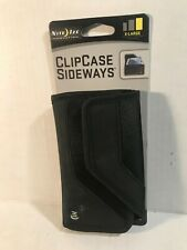 NITE IZE NYLON SIDEWAYS CLIP CASE Wallet CLOSURE POUCH - X-LARGE - BLACK